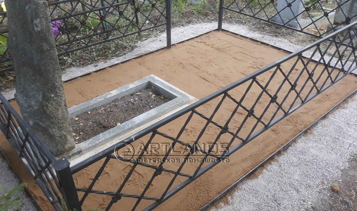 бордюр для могилы пластиковый 2