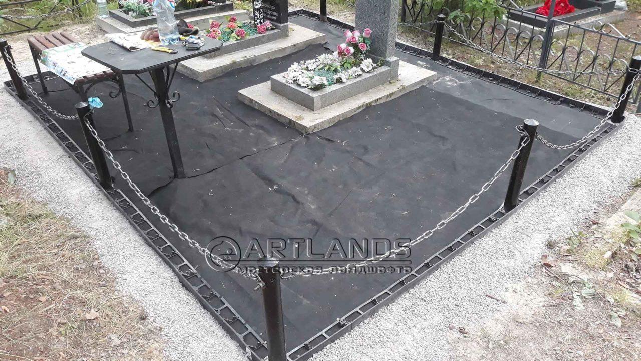 бордюр для могилы пластиковый 3