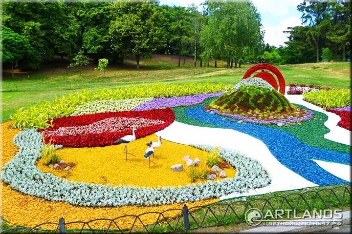 как украсить парк и Декоративный цветной щебень для ландшафтного дизайна от мастерской ландшафта Art Lands