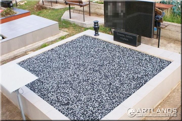как укладывать щебень на могилу