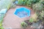 как сделать сухой ручей второй этап (подсыпка подушки из песка)