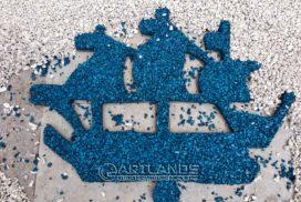 цветной декоративный щебень купить в спб, как украсить клумбу, идеи для сада и огорода своими руками фото, каменный ковер спб 127