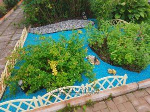 цветной декоративный щебень купить в спб, как украсить клумбу, идеи для сада и огорода своими руками фото, каменный ковер спб 180