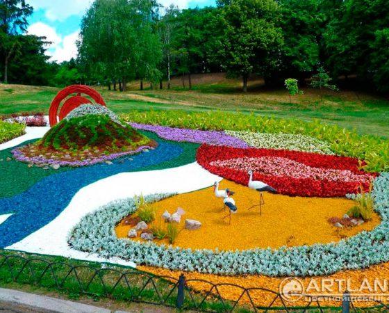 городские клумбы фото, городские цветники, цветной декоративный щебень купить в спб, как украсить клумбу, идеи для сада и огорода своими руками фото, мун, в 341