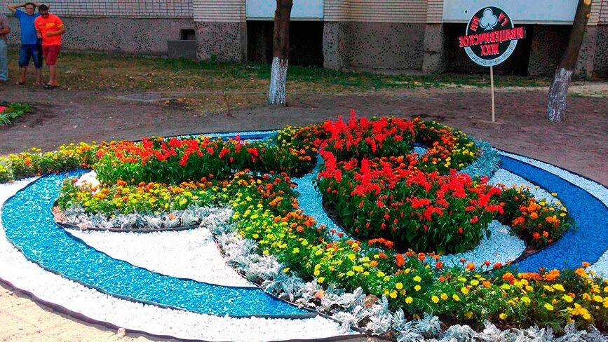 городские клумбы фото, городские цветники, цветной декоративный щебень купить в спб, как украсить клумбу, идеи для сада и огорода своими руками фото, мун, в 367