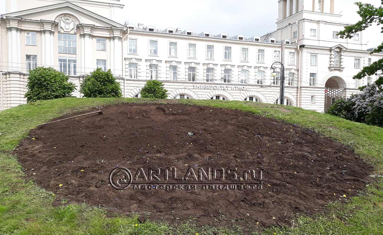 Часы в Александровском саду (до)
