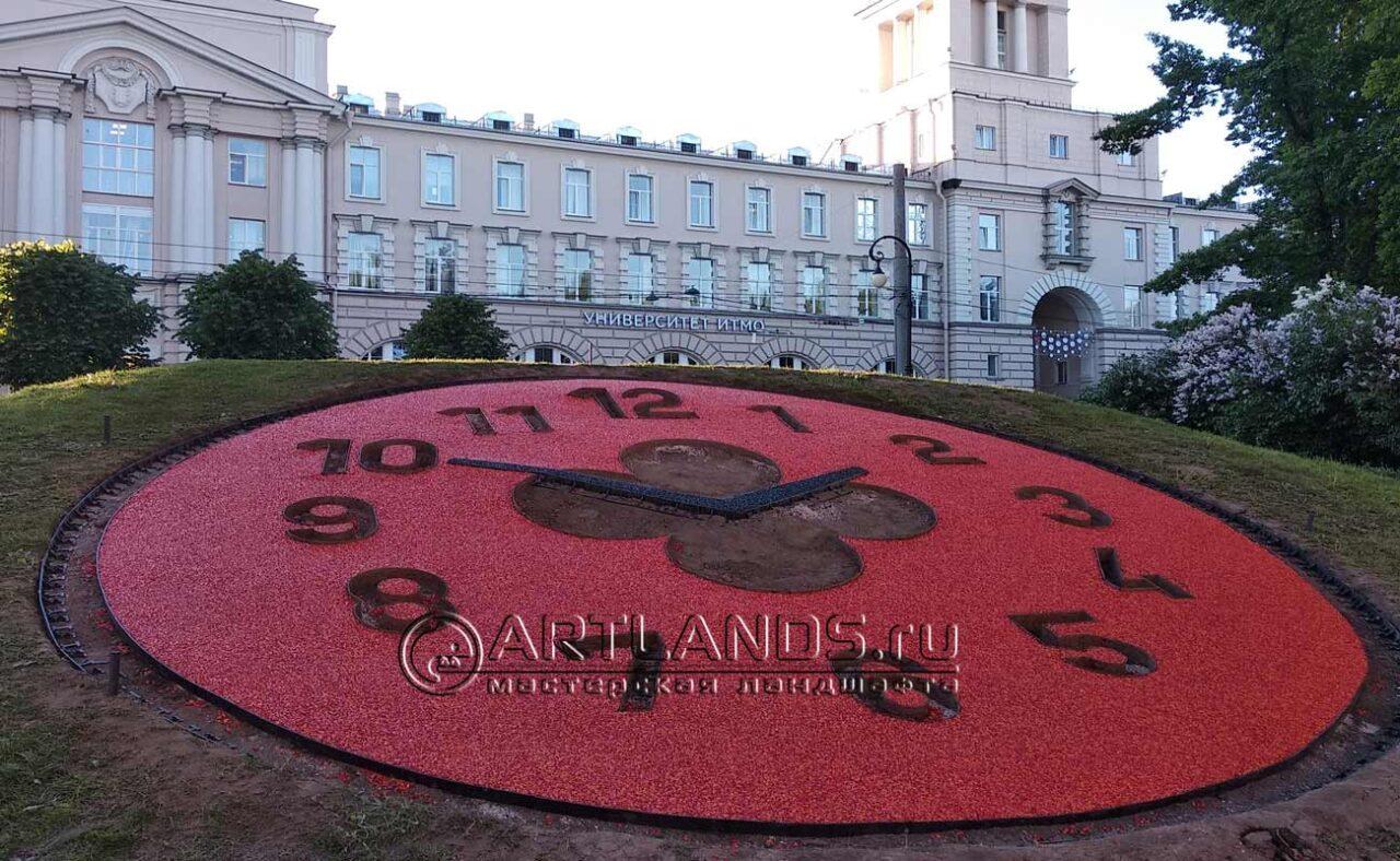 Часы в Александровском саду (после)