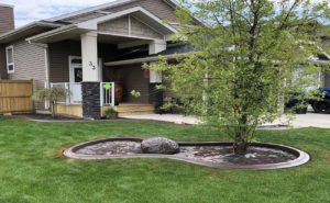 Ландшафтный гибкий бордюр из монолитного бетона от мастерской ландшафта Artlands