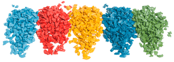 Цветная каменная крошка для ландшафтного дизайна