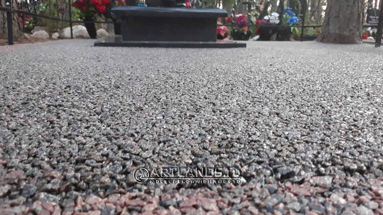 цветной щебень на могилы, как лучше благоустроить могилу, мраморная крошка для могилы, пластиковый бордюр для могилы, artgravel 243
