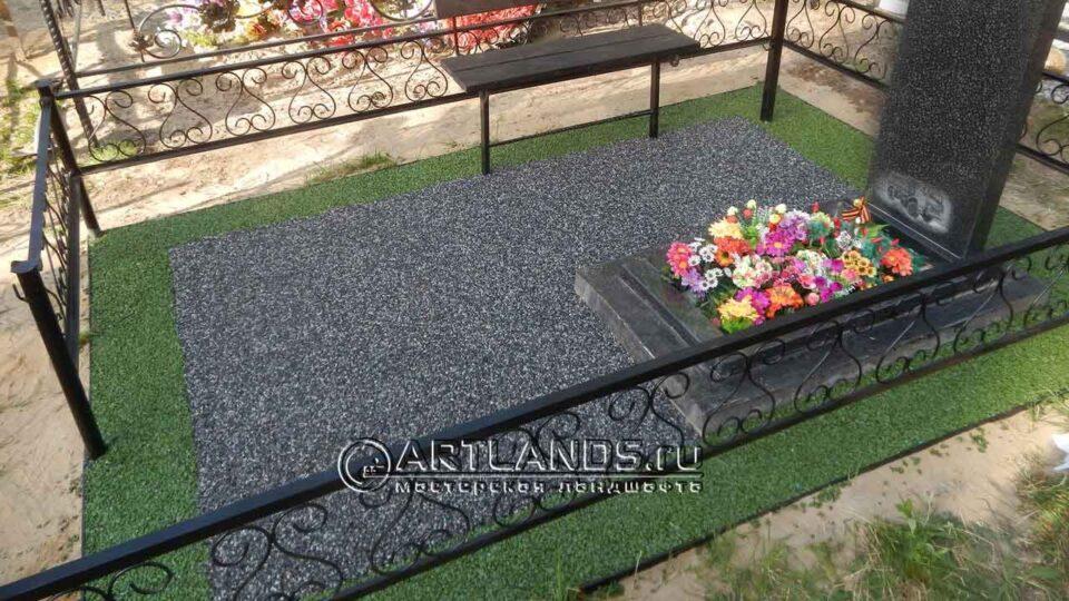 цветной щебень на могилы, как лучше благоустроить могилу, мраморная крошка для могилы, пластиковый бордюр для могилы, artgravel 42