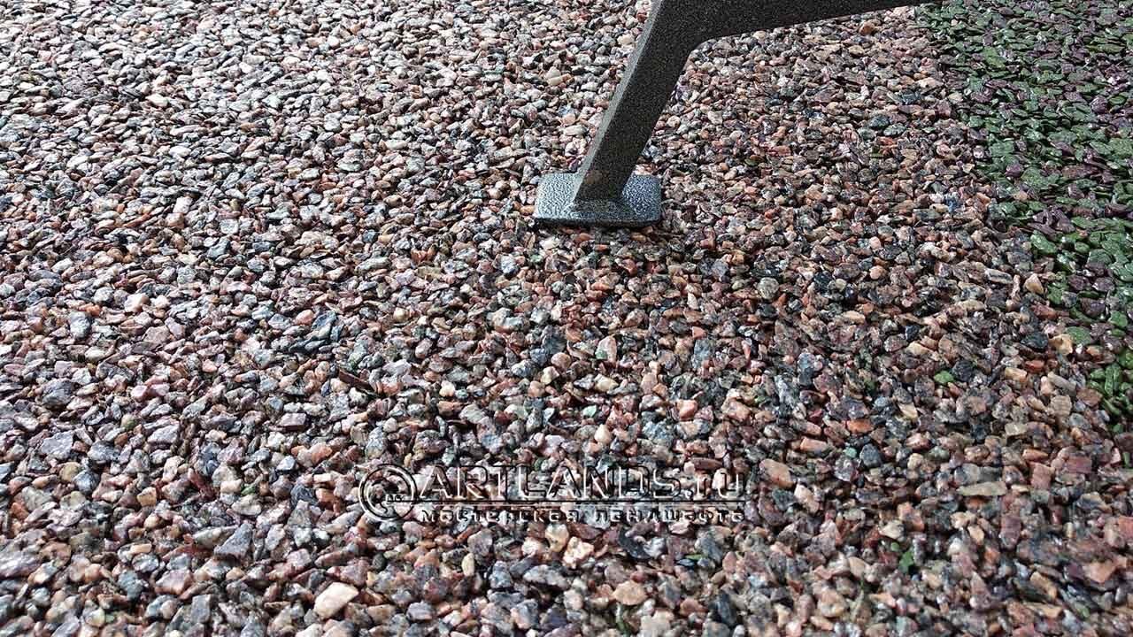Обустройство захоронений - каменный ковёр Art Gravel