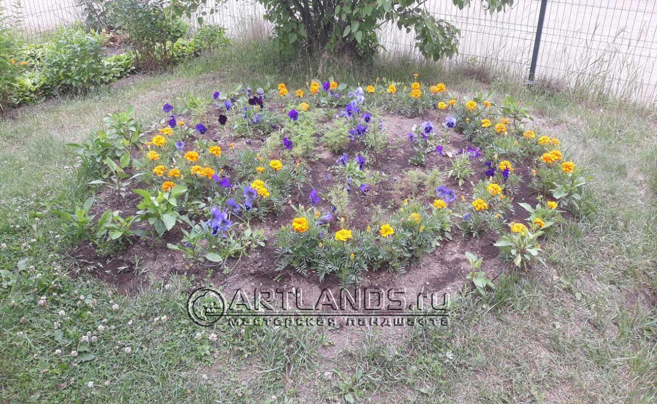 садовый бордюр в ландшафтном дизайне, ландшафтный бетонный бордюр, ограждения для клумб 34