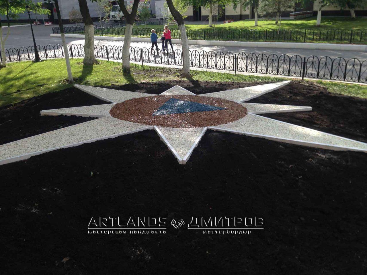 каменный ковёр Art Gravel в Москве и Московской области, Дмитров, Мастербордюр 6