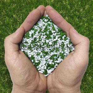 Бело-зелёный декоративный цветной щебень фракции 1-4мм для ландшафтного дизайна купить
