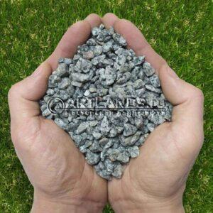 Чистая и сухая серая гранитная крошка для каменного ковра (гранитный щебень в мешках)