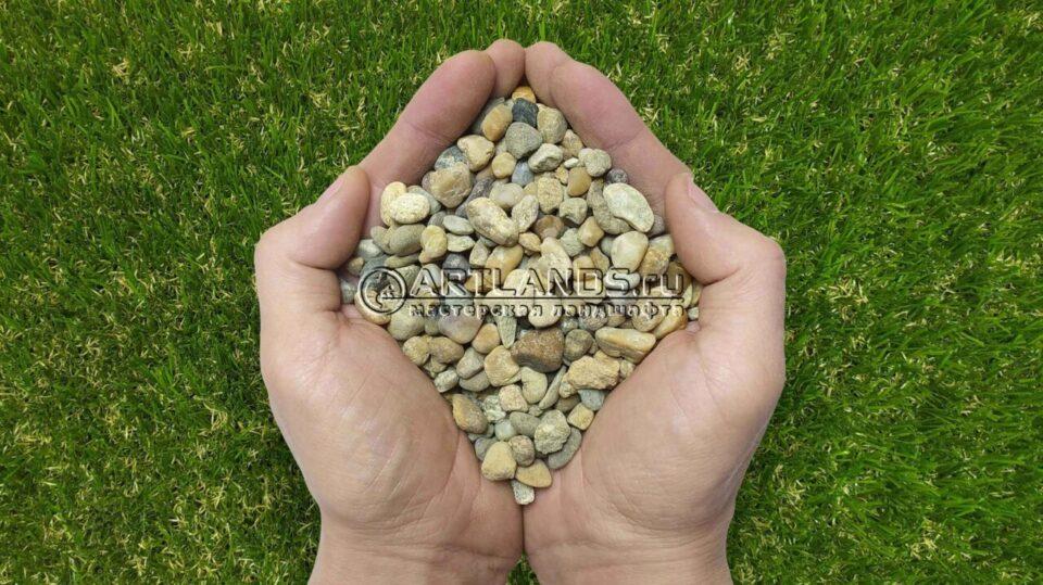 Гравий кавказский жёлтый для каменного ковра купить