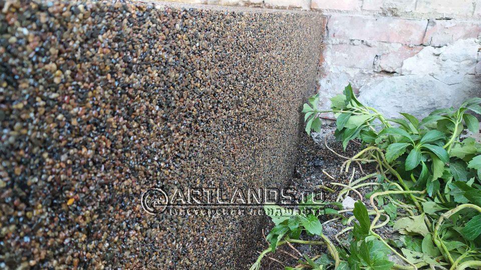 каменный ковёр из гравия речного 2