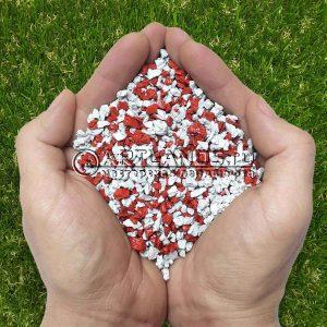 Красно-белый декоративный цветной щебень для ландшафтного дизайна купить 12