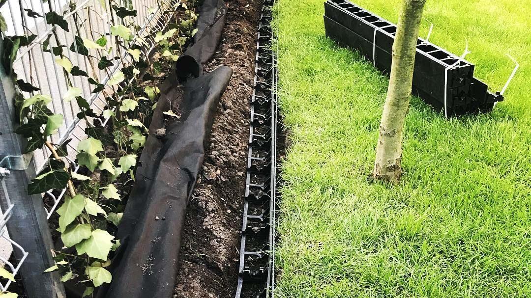 Садовый пластиковый бордюр Геоборд для клумб и садовых дорожек купить 2