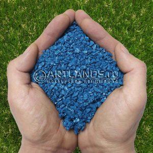 Синий декоративный цветной щебень фракции 1-4мм для ландшафтного дизайна купить