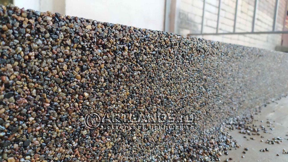 каменный ковёр из гравия речного 1