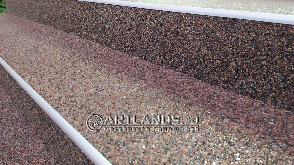 каменный ковёр из гравия речного 5
