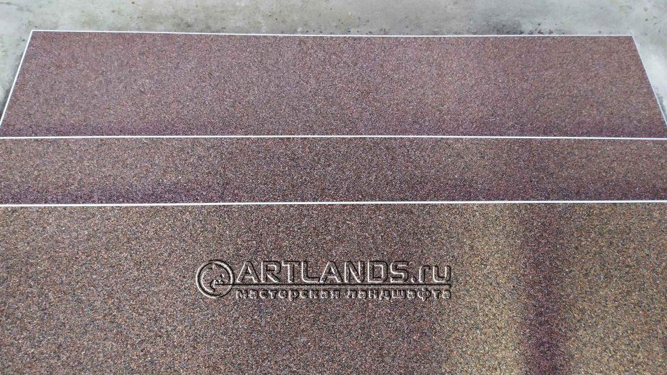 каменный ковёр своими руками из красной гранитной крошки 3