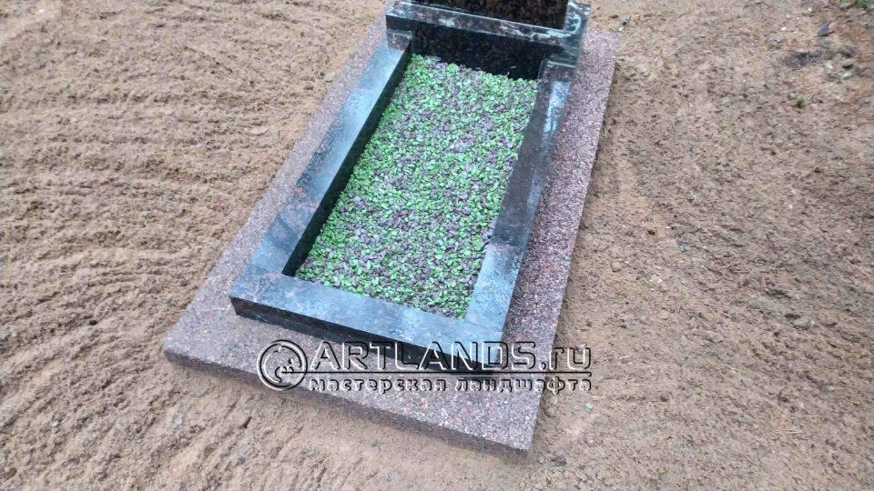 каменный ковёр своими руками из красной гранитной крошки 6