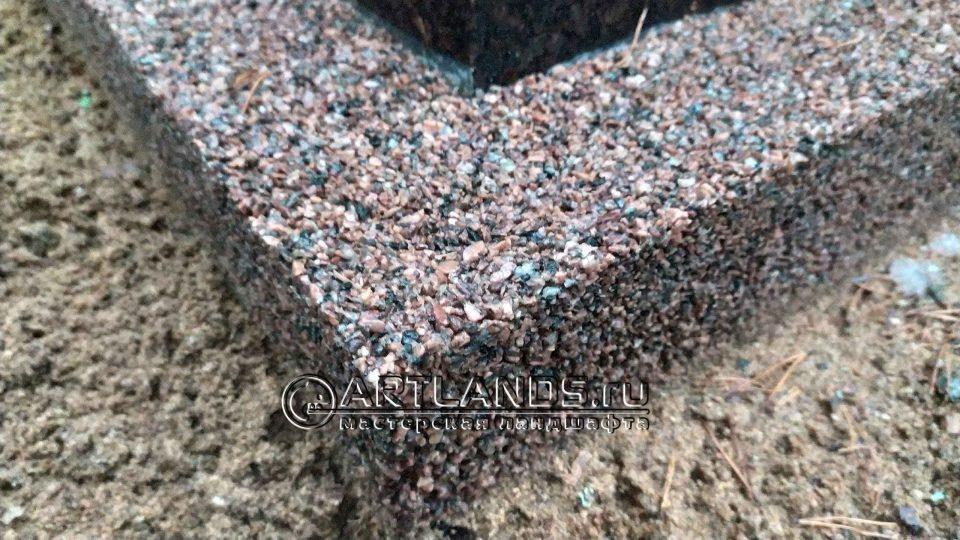 каменный ковёр своими руками из красной гранитной крошки 7