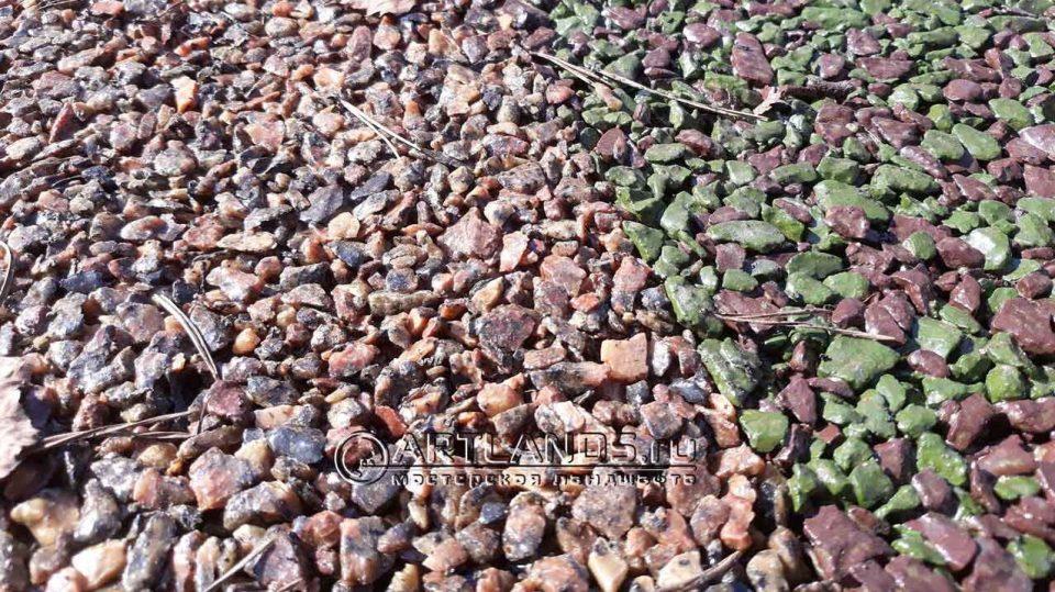 розовая гранитная крошка для каменного ковра